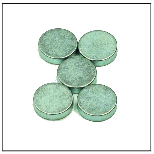 High Temperature Neodymium Magnets N42H W Zinc Blue-Silver Color