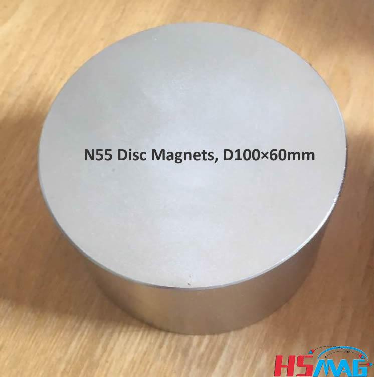 Large N55 Magnets, N55 Disc Magnets, D100×60mm