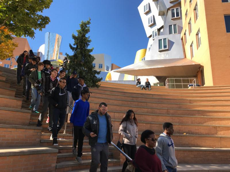 Touring the MIT campus