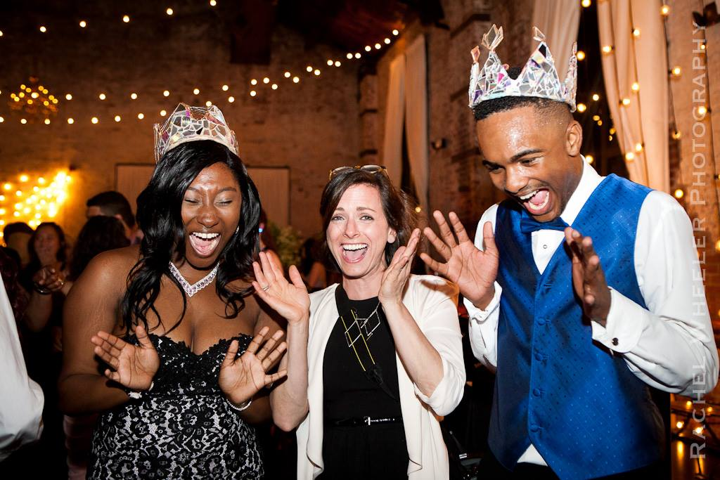 The 2016 Prom Queen and Prom King with Ms. Boylan