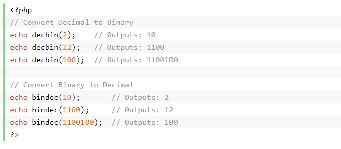 العمليات الحسابية في php