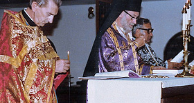 Bishop Dmitri celebrates the Divine Liturgy during Great Lent.
