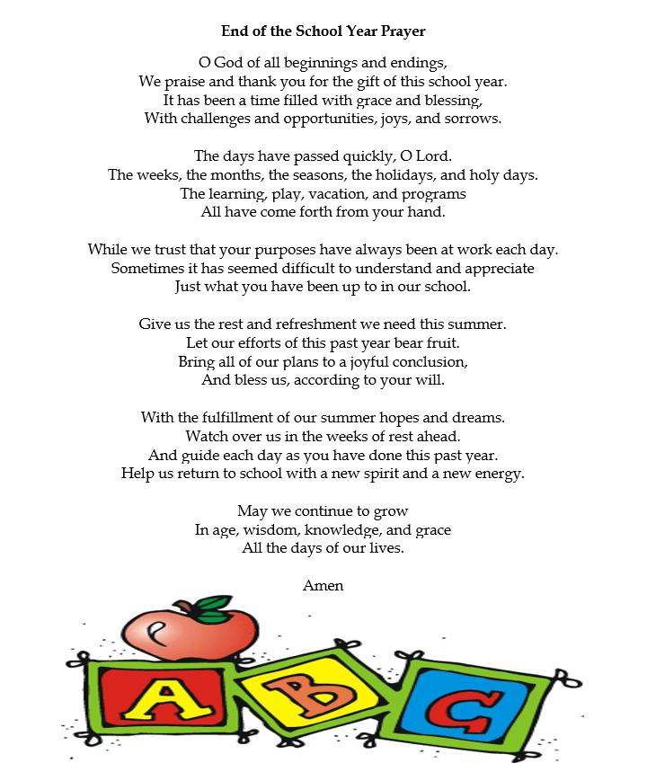 MDO End of School Prayer
