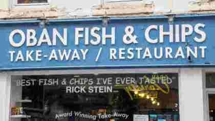 classico negozio scozzese di Fish & Chips