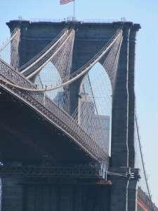 Particolare del Ponte di Brooklyn