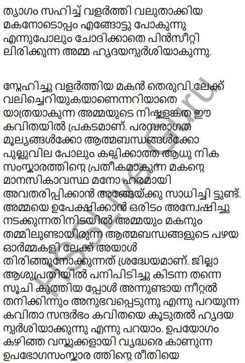 Adisthana Padavali Malayalam Standard 10 Solutions Unit 1 Chapter 3 Ammathottil 29