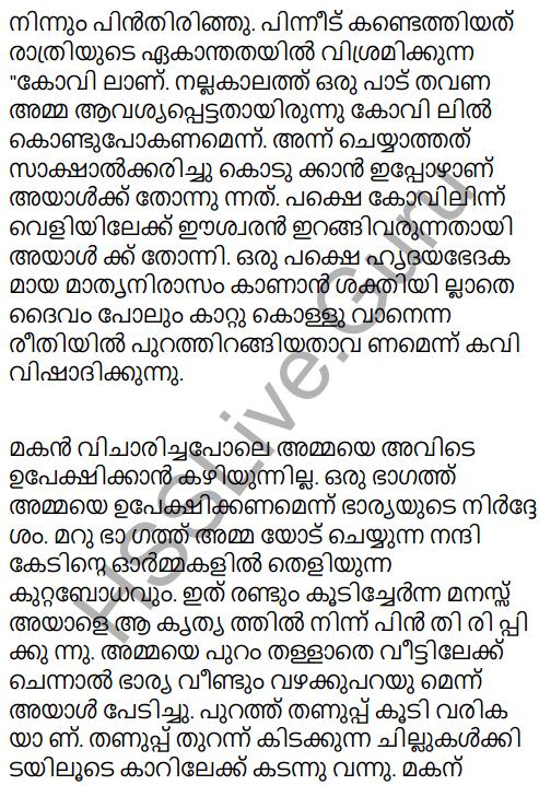 Adisthana Padavali Malayalam Standard 10 Solutions Unit 1 Chapter 3 Ammathottil 8