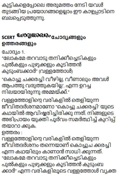 Adisthana Padavali Malayalam Standard 10 Solutions Unit 2 Chapter 1 Kochu Chakkarachi 17