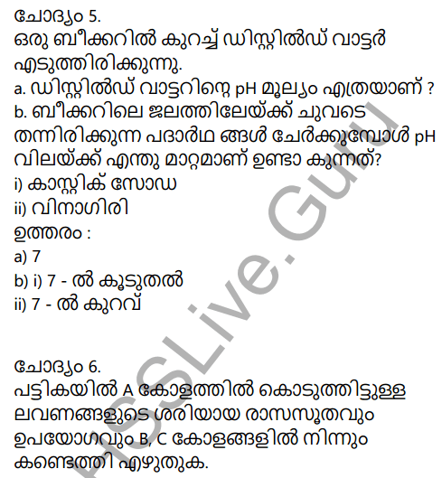Kerala Syllabus 9th Standard Chemistry Solutions Chapter 5 Acids, Bases, Salts in Malayalam 47