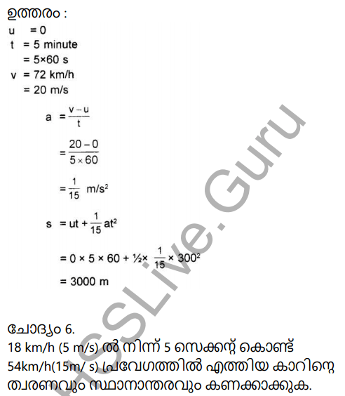 Kerala Syllabus 9th Standard Physics Solutions Chapter 2 Equations of Motion in Fluids in Malayalam 24