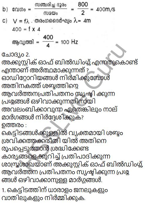 Kerala Syllabus 9th Standard Physics Solutions Chapter 7 Wave Motion in Malayalam 41