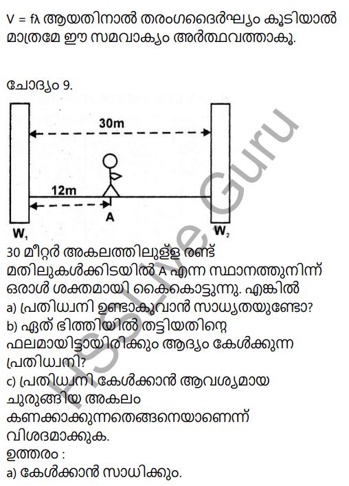 Kerala Syllabus 9th Standard Physics Solutions Chapter 7 Wave Motion in Malayalam 52