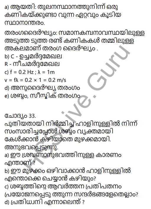 Kerala Syllabus 9th Standard Physics Solutions Chapter 7 Wave Motion in Malayalam 74