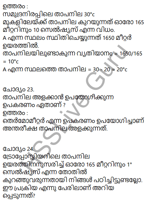 Kerala Syllabus 9th Standard Social Science Solutions Chapter 1 Sun The Ultimate Source in Malayalam 26