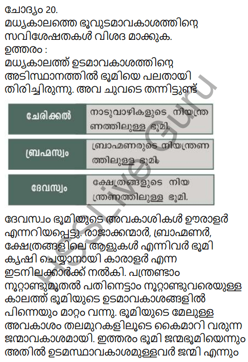 Kerala Syllabus 9th Standard Social Science Solutions Chapter 7 Kerala From Eighth to Eighteenth Century in Malayalam 17
