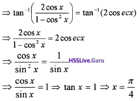 Plus Two Maths Inverse Trigonometric Functions 3 Mark Questions and Answers 10