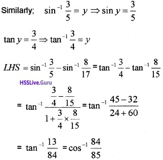 Plus Two Maths Inverse Trigonometric Functions 6 Mark Questions and Answers 35