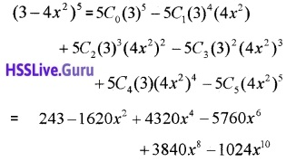 Plus One Maths Binomial Theorem Three Mark Questions and Answers 18