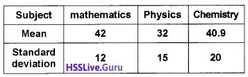 Plus One Maths Statistics Three Mark Questions and Answers 3