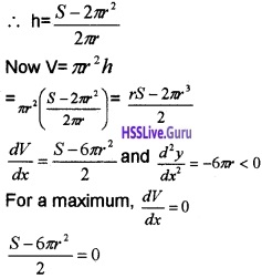 Plus Two Maths Application of Derivatives 3 Mark Questions and Answers 62