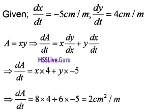 Plus Two Maths Application of Derivatives 3 Mark Questions and Answers 9