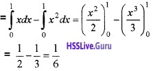 Plus Two Maths Application of Integrals 4 Mark Questions and Answers 2
