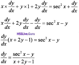 Plus Two Maths Continuity and Differentiability 3 Mark Questions and Answers 13