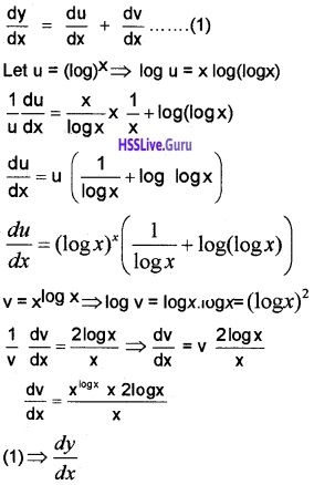 Plus Two Maths Continuity and Differentiability 3 Mark Questions and Answers 50