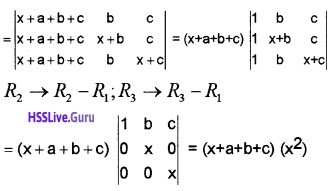 Plus Two Maths Determinants 3 Mark Questions and Answers 12
