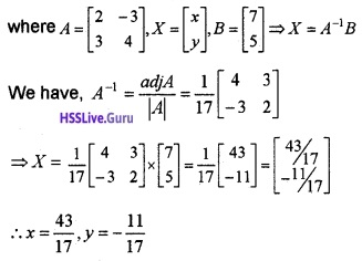 Plus Two Maths Determinants 4 Mark Questions and Answers 21