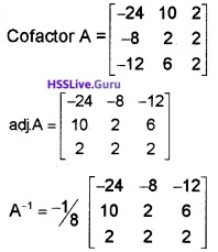 Plus Two Maths Determinants 4 Mark Questions and Answers 62