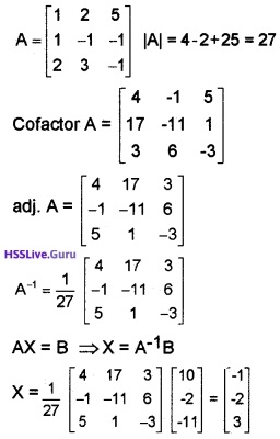 Plus Two Maths Determinants 4 Mark Questions and Answers 64