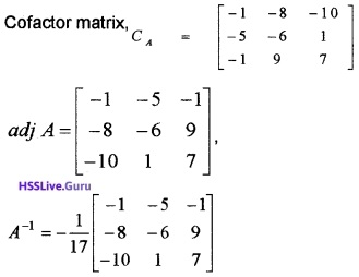 Plus Two Maths Determinants 4 Mark Questions and Answers 65