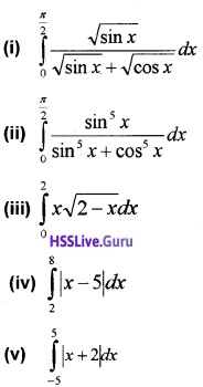 Plus Two Maths Integrals 3 Mark Questions and Answers 18
