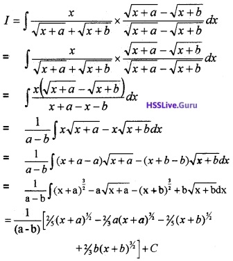 Plus Two Maths Integrals 3 Mark Questions and Answers 45