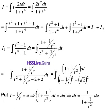 Plus Two Maths Integrals 3 Mark Questions and Answers 82