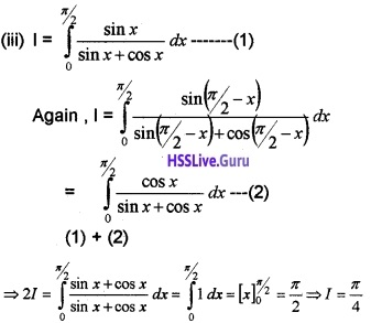 Plus Two Maths Integrals 3 Mark Questions and Answers 96