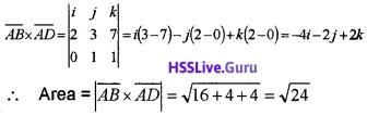 Plus Two Maths Vector Algebra 3 Mark Questions and Answers 52