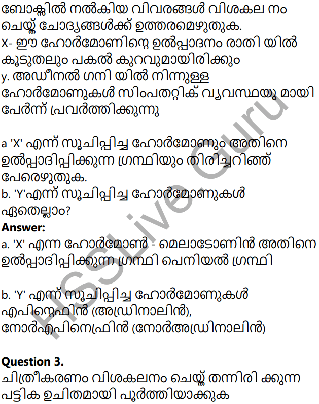 Kerala Syllabus 10th Standard Biology Solutions Chapter 3 Chemical Messages for Homeostasis in Malayalam 18