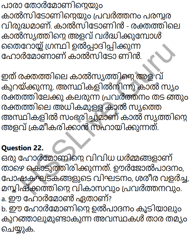 Kerala Syllabus 10th Standard Biology Solutions Chapter 3 Chemical Messages for Homeostasis in Malayalam 35