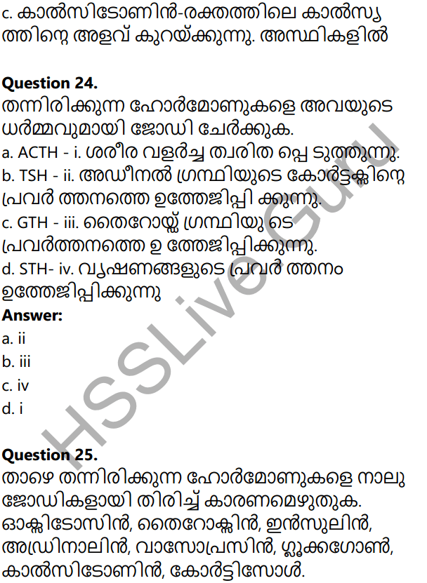 Kerala Syllabus 10th Standard Biology Solutions Chapter 3 Chemical Messages for Homeostasis in Malayalam 37