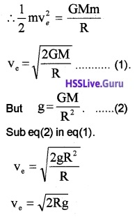 Plus One Physics Chapter Wise Questions and Answers Chapter 8 Gravitation - 16