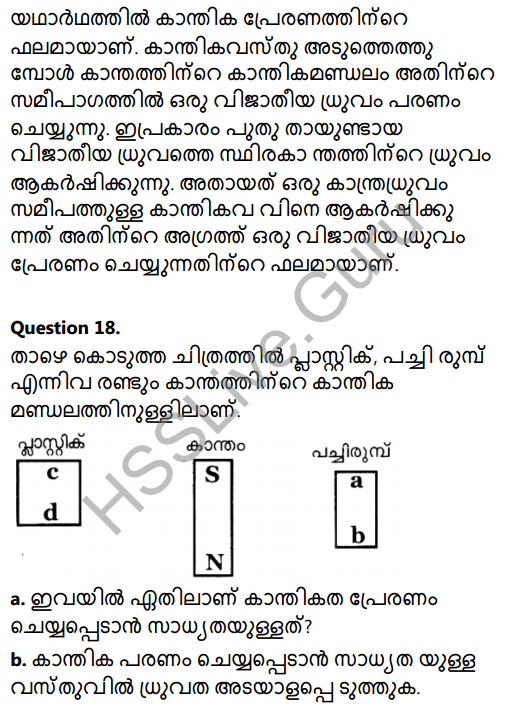 Kerala Syllabus 8th Standard Basic Science Solutions Chapter 11 Magnetism in Malayalam 13