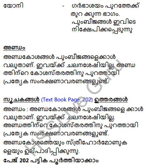 Kerala Syllabus 8th Standard Basic Science Solutions Chapter 14 For the Continuity of Generations in Malayalam 6