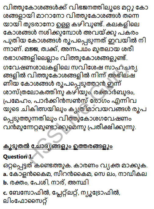 Kerala Syllabus 8th Standard Basic Science Solutions Chapter 2 Cell Clusters in Malayalam 12