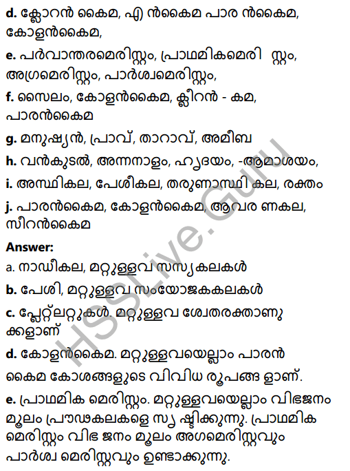 Kerala Syllabus 8th Standard Basic Science Solutions Chapter 2 Cell Clusters in Malayalam 13