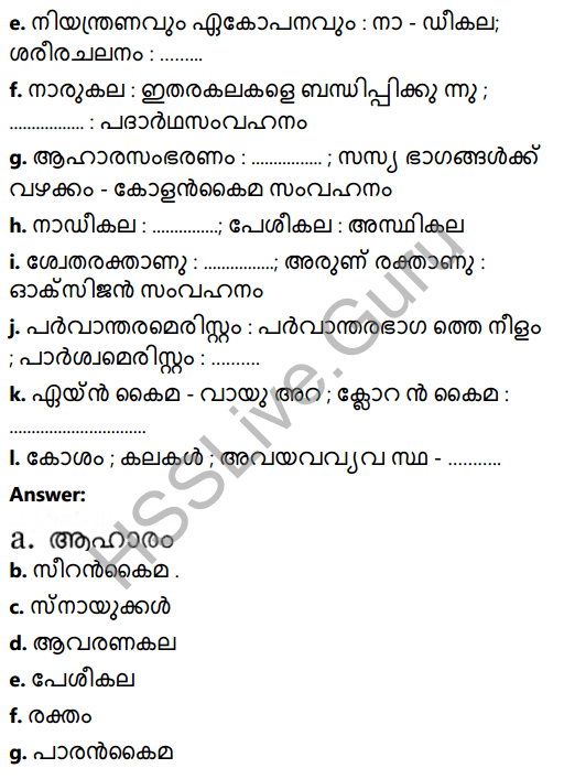 Kerala Syllabus 8th Standard Basic Science Solutions Chapter 2 Cell Clusters in Malayalam 15