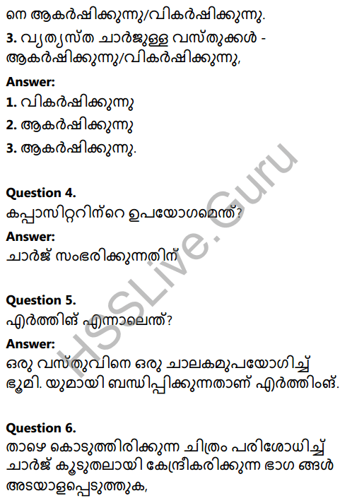 Kerala Syllabus 8th Standard Basic Science Solutions Chapter 20 Static Electricity in Malayalam 5