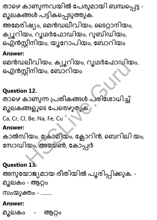Kerala Syllabus 8th Standard Basic Science Solutions Chapter 5 Basic Constituents of Matter in Malayalam 13