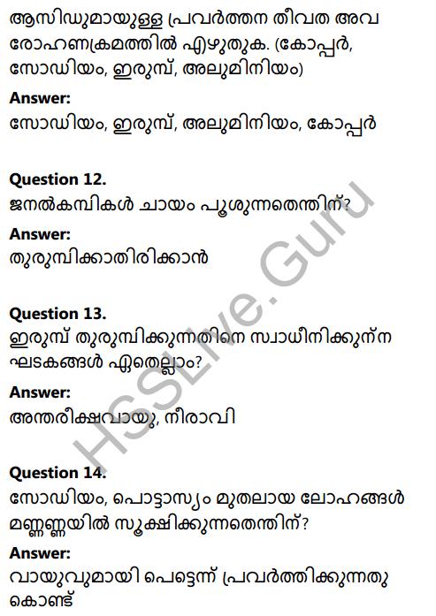 Kerala Syllabus 8th Standard Basic Science Solutions Chapter 7 Metals in Malayalam 13